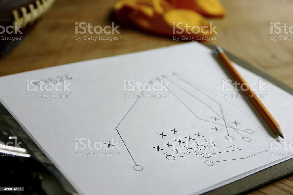 Football Play - Hail Mary Bomb stock photo