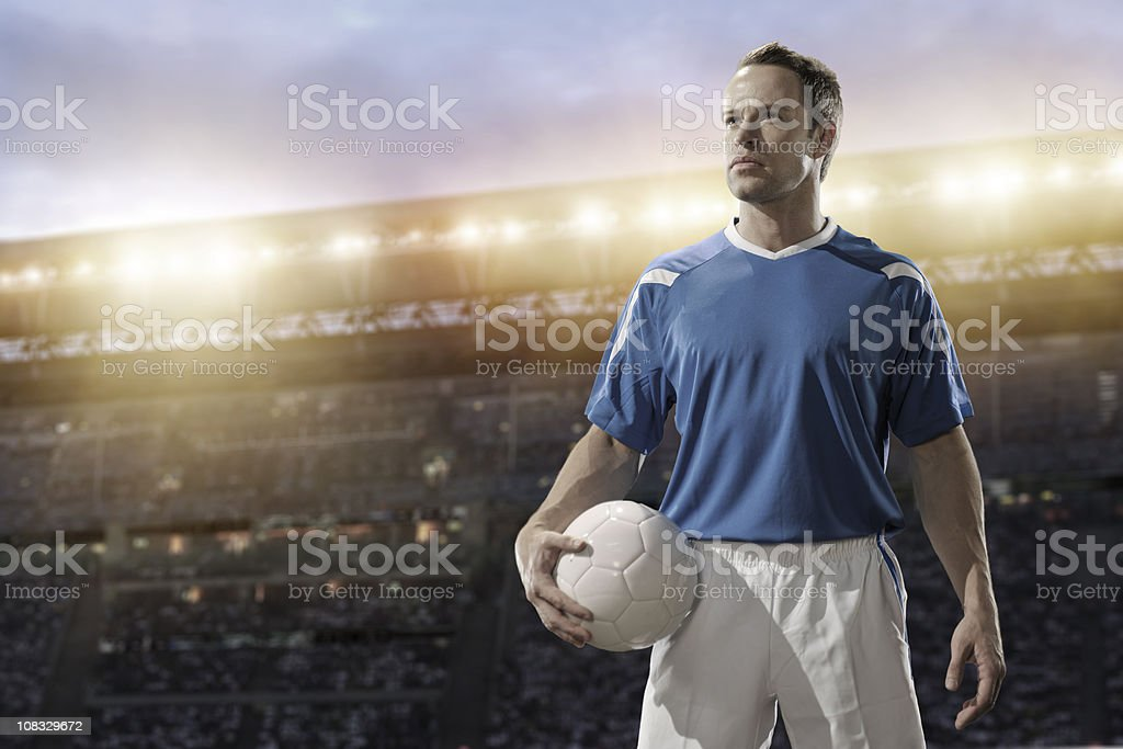 football player destaurated royalty-free stock photo