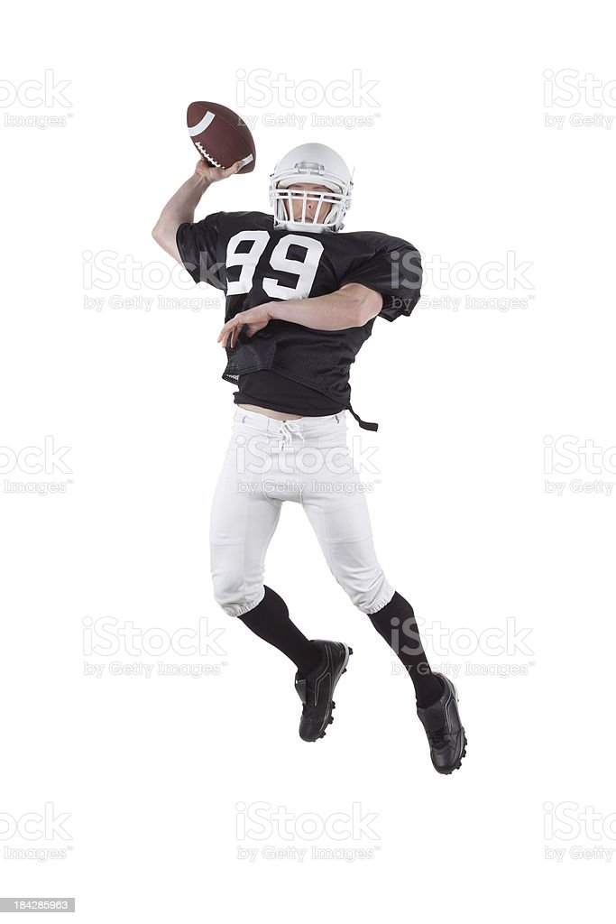 Football player in action stock photo