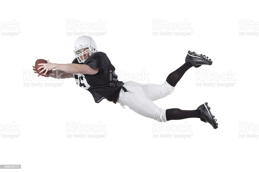 Football player in action royalty-free stock photo