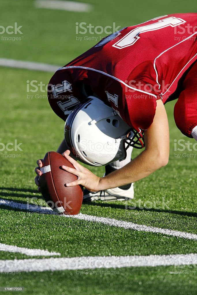 Football Player on the Field royalty-free stock photo