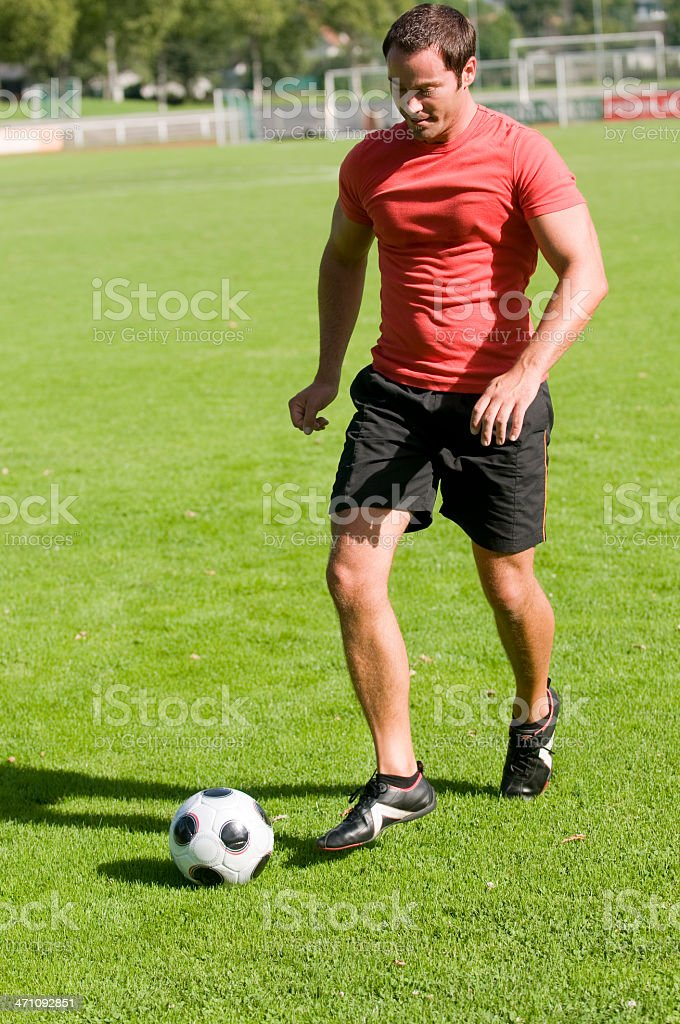 football (soccer) player royalty-free stock photo