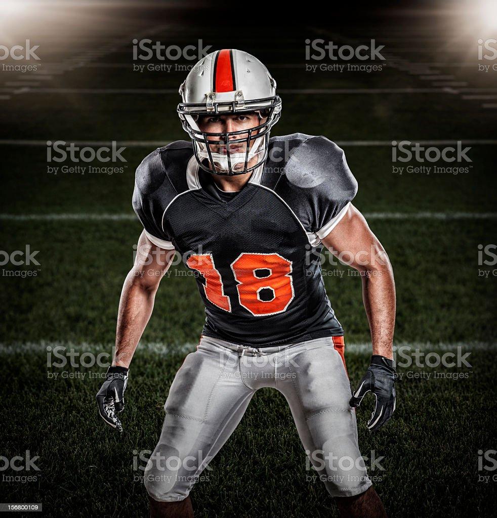Football Player Portrait royalty-free stock photo