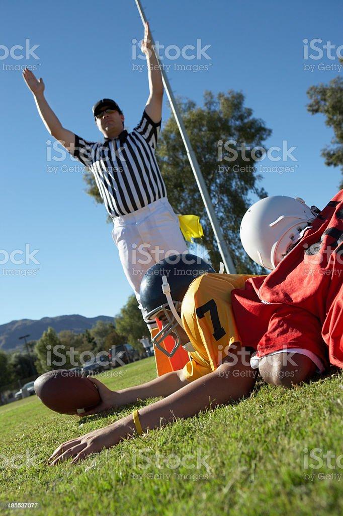 Football Player Scoring stock photo