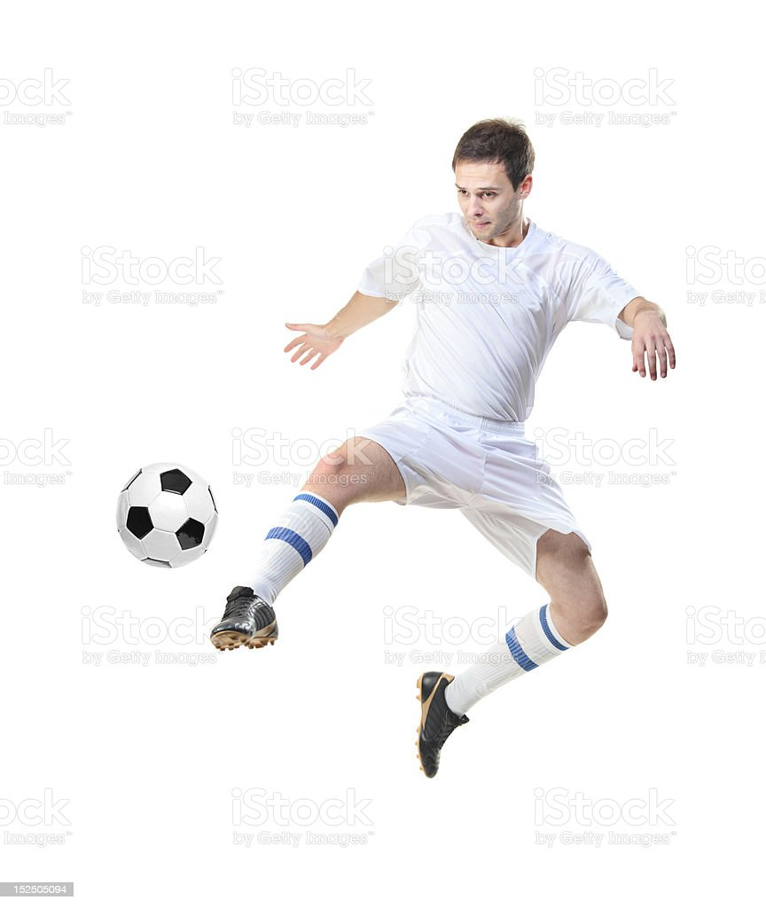 Football player with ball royalty-free stock photo