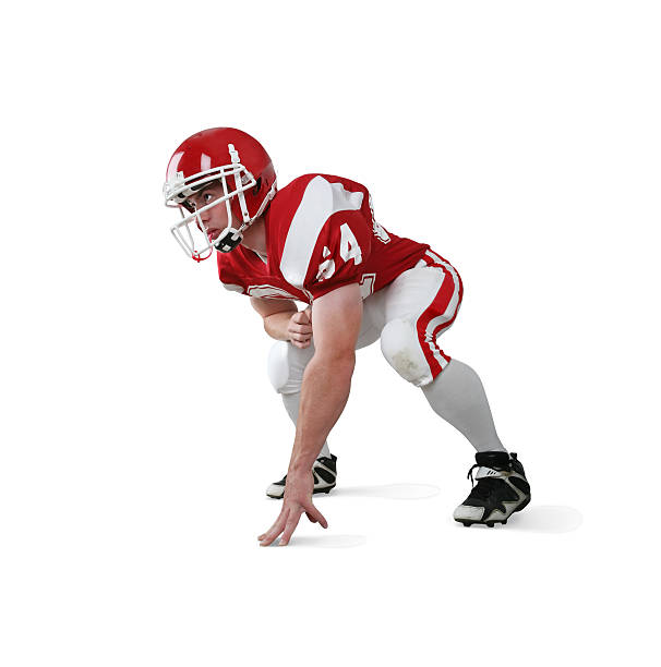 Football-Spieler mit Clipping Path – Foto