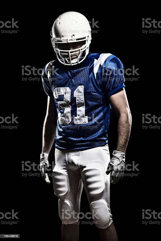 Football Player with number 01 stock photo