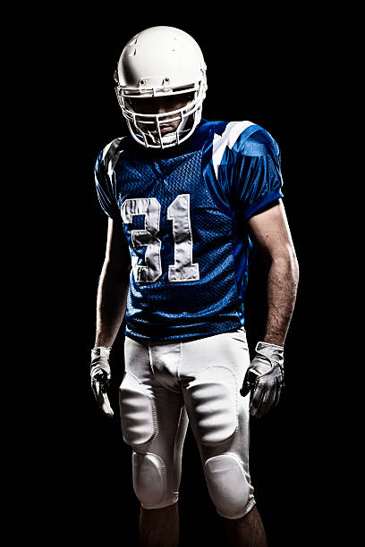 football player with number 01 - sports uniform stock photos and pictures