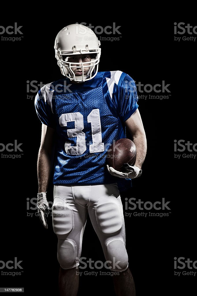 Football Player with number stock photo