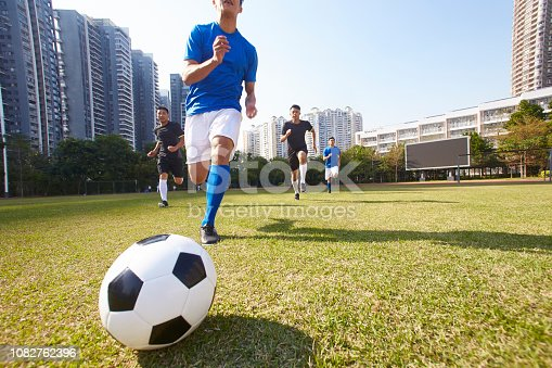 istock football players chasing the ball 1082762396