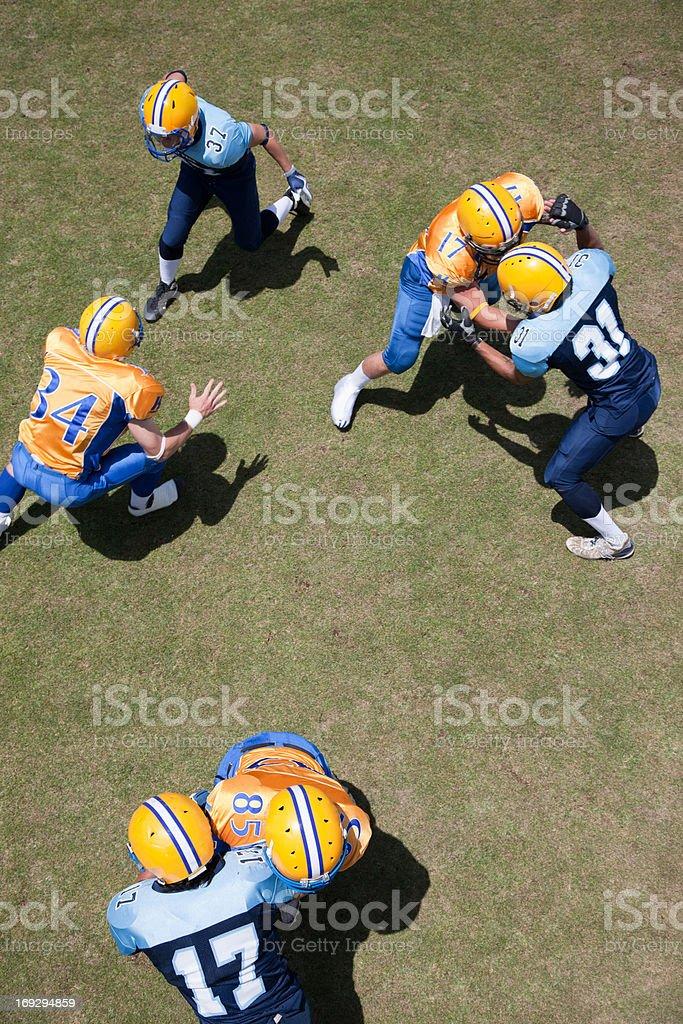 Football players playing football royalty-free stock photo