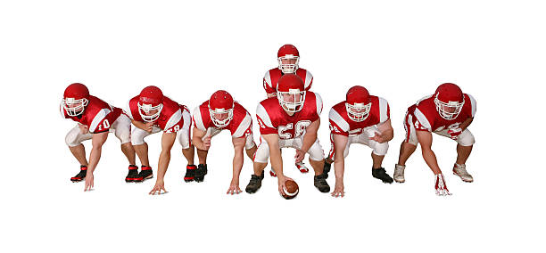 Football Players with Clipping Path stock photo