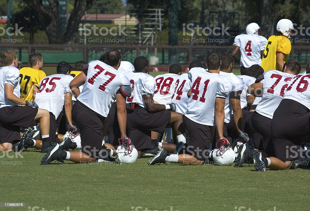 Football practice - On the sidelines royalty-free stock photo