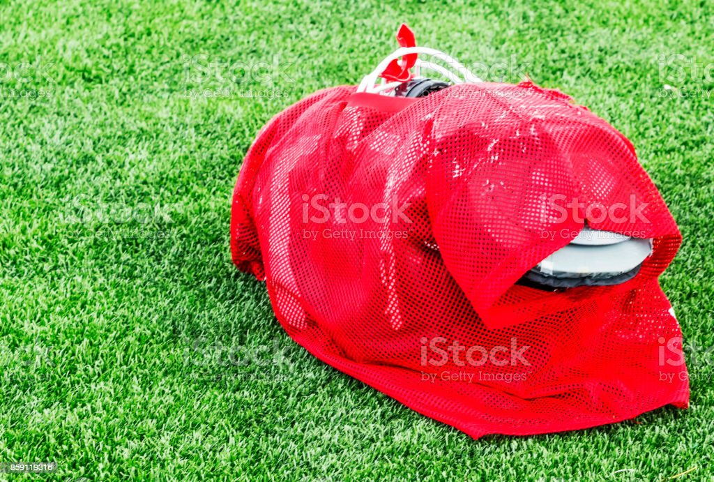 Football practice outfit ready wear stock photo