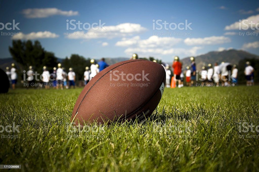 football practice stock photo
