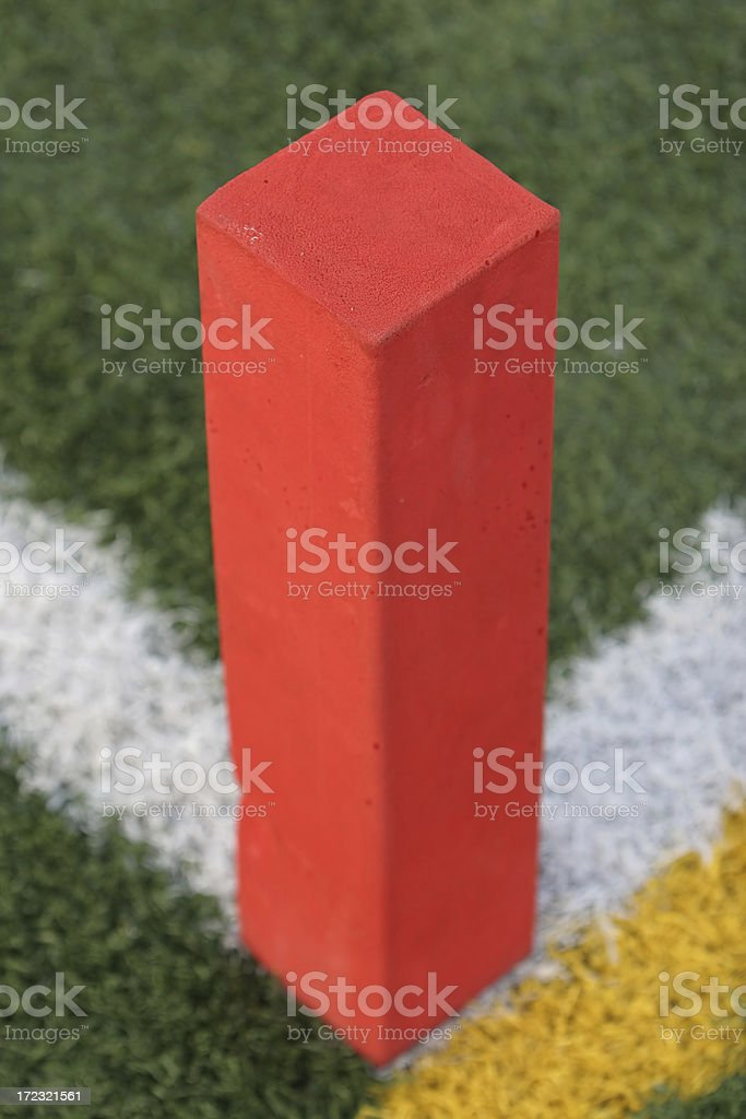 Football Pylon stock photo
