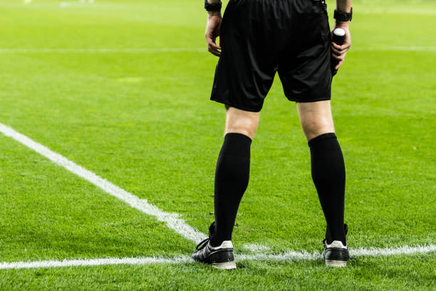 football referee on the field - judge sports official stock photos and pictures