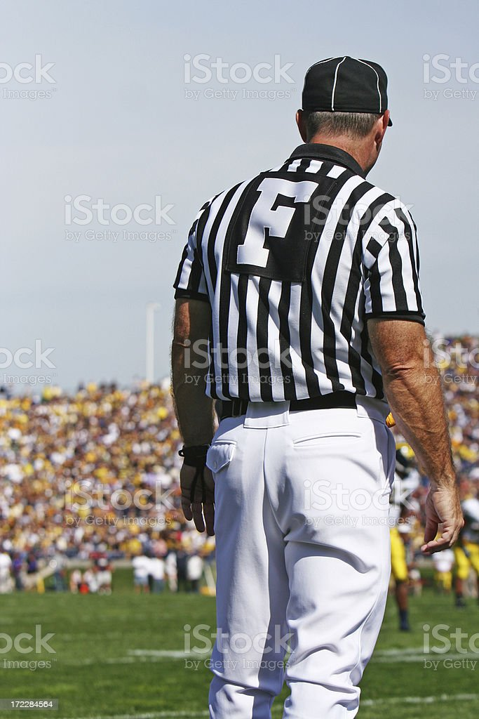 Football Referee royalty-free stock photo