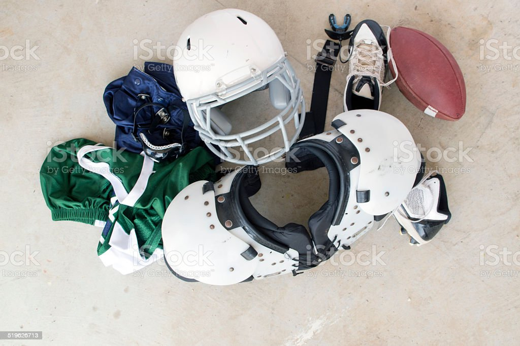 Football Safety Gear and Uniform stock photo