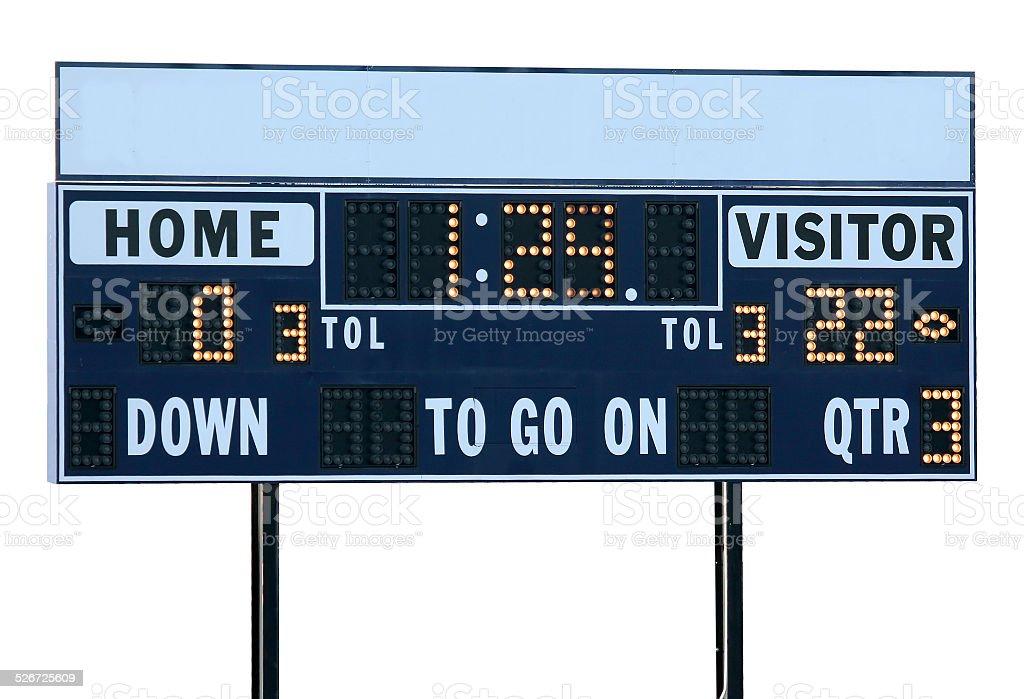 Football Scoreboard stock photo