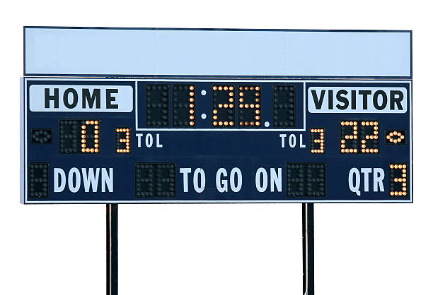 football scoreboard - scoring stock photos and pictures