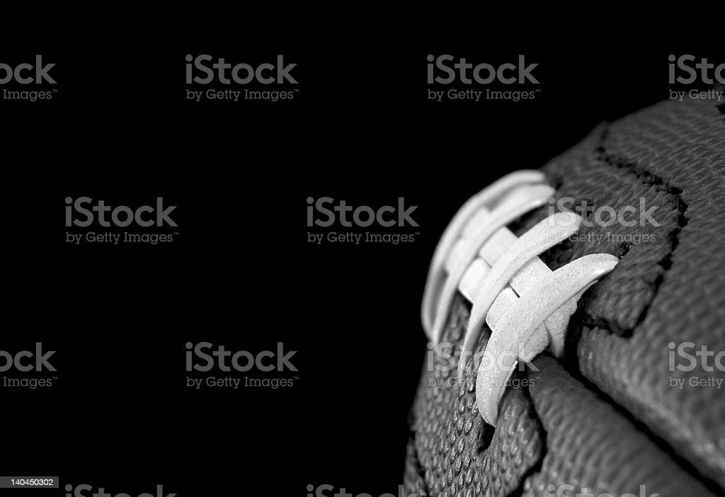 Football seams stock photo