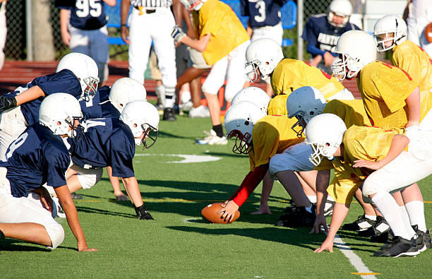 Football Series (31) Line of scrimmage line of scrimmage stock pictures, royalty-free photos & images