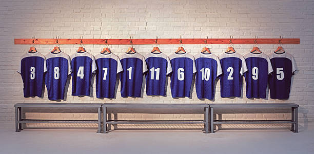 football shirts - sports team stock photos and pictures