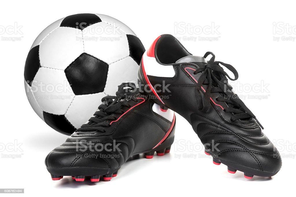Fußball schuhe, fußball-ball – Foto
