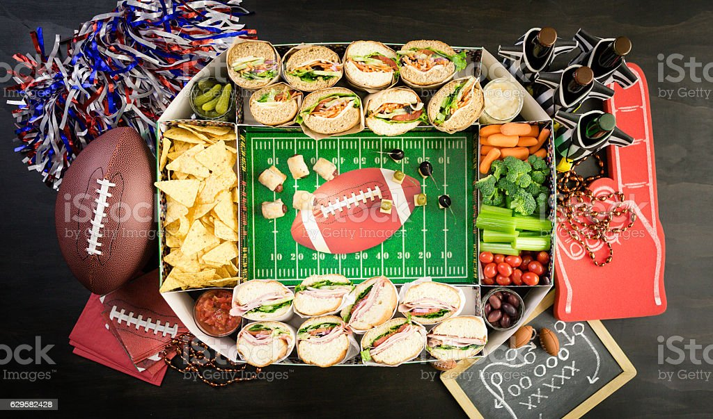 Football Snack Stadium stock photo