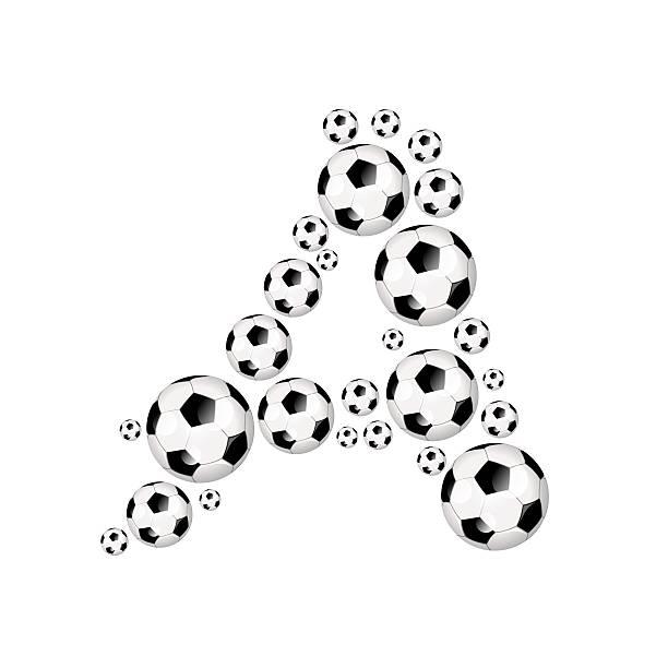futebol, futebol alfabeto letra a - ronaldo imagens e fotografias de stock