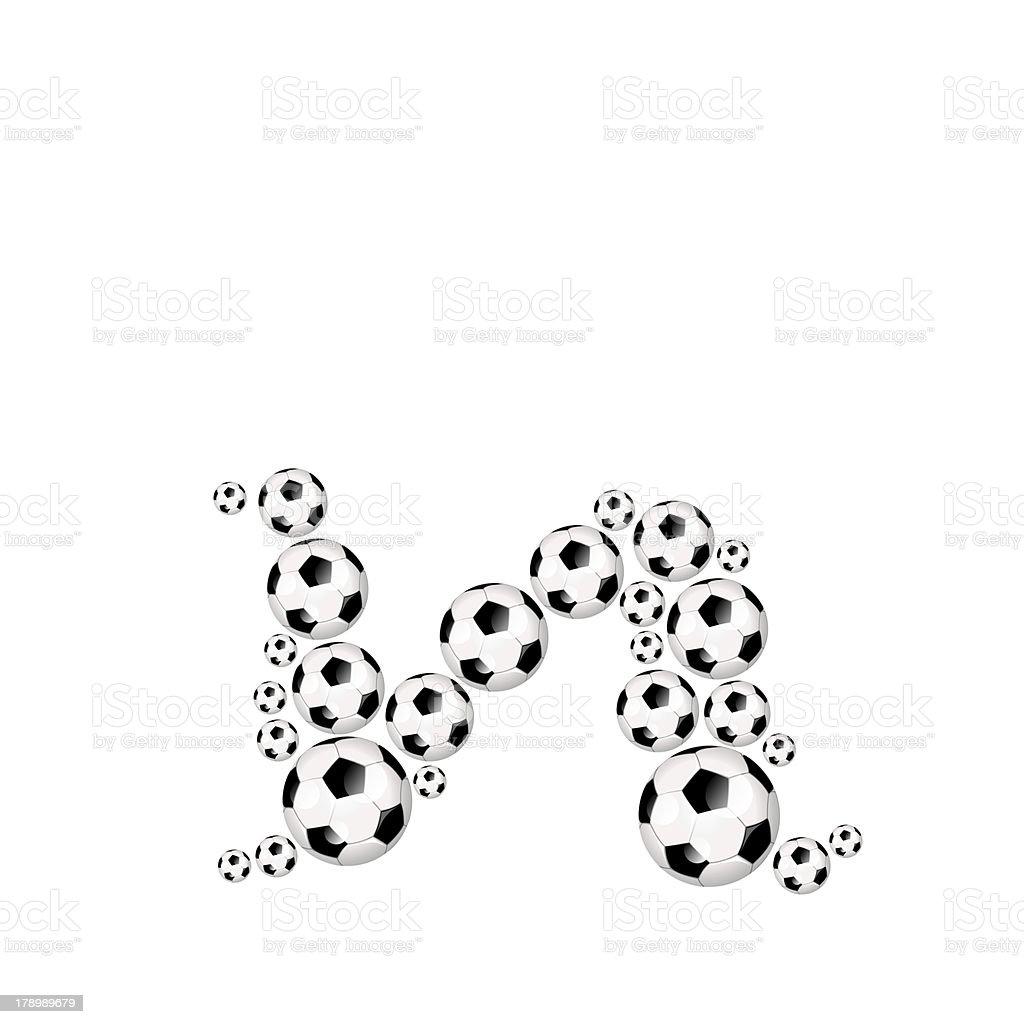 Football, soccer alphabet lowercase letter n royalty-free stock photo