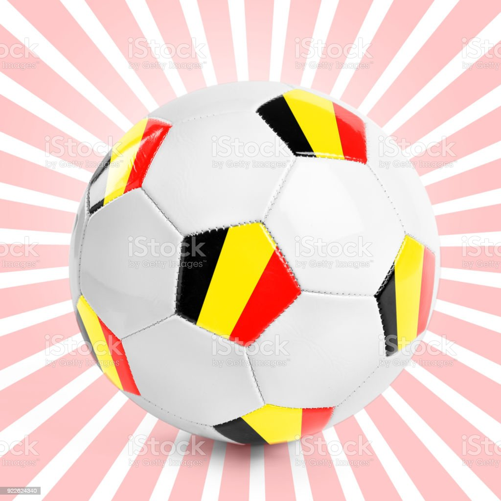 Football soccer ball - Belgium stock photo
