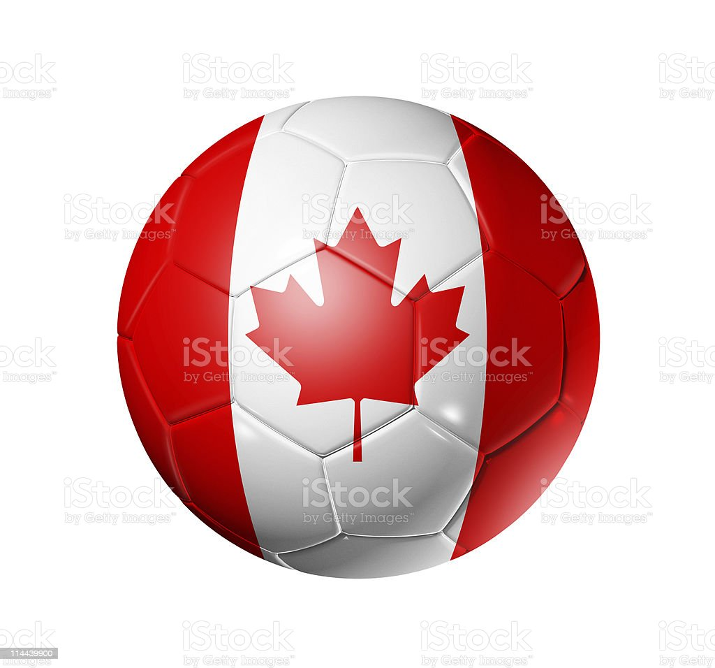 football soccer ball with canada flag stock photo 114439900 istock