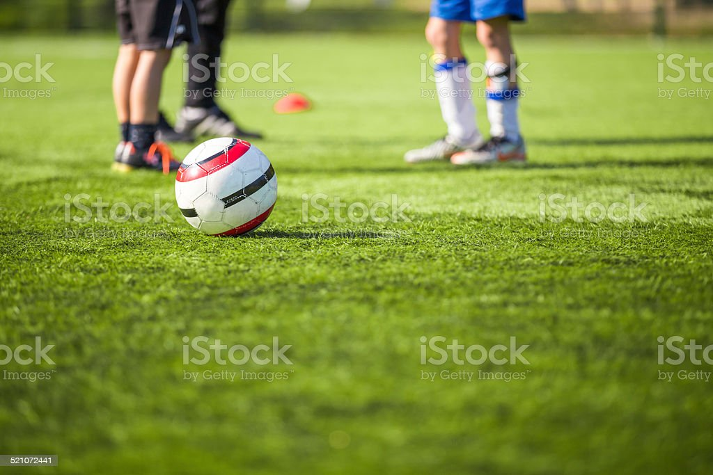 football soccer futsal training for children stock photo