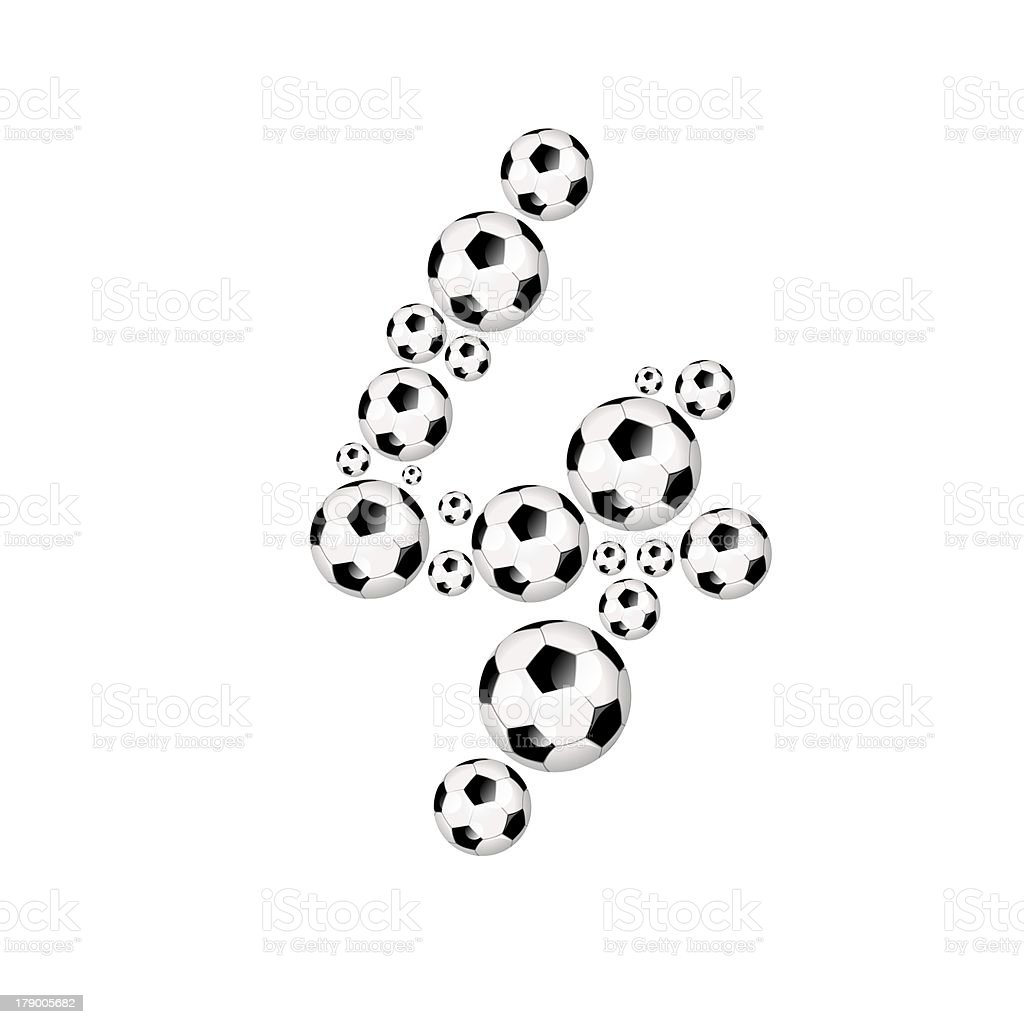Football, soccer number 4 royalty-free stock photo