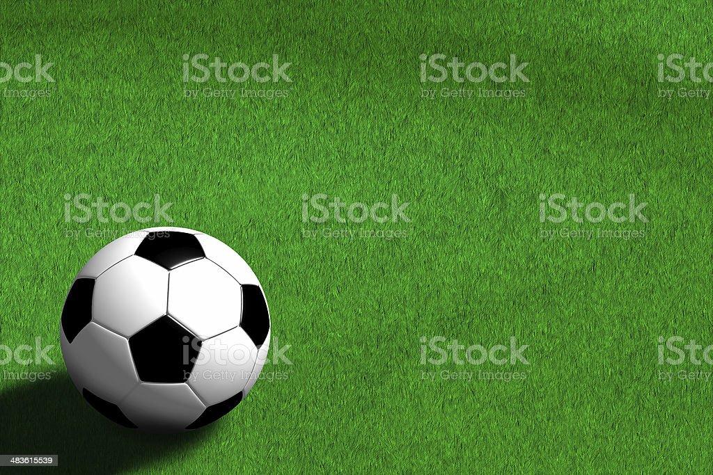 Football - Soccer (3D) royalty-free stock photo