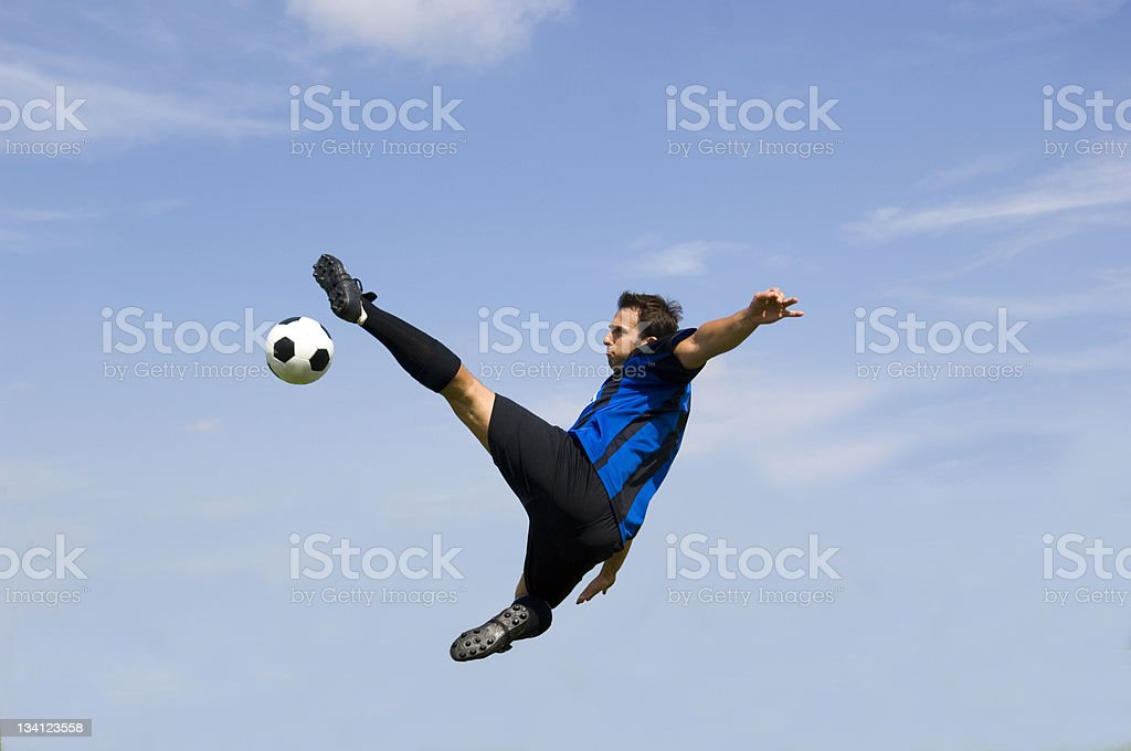 Football - Soccer Player Volley stock photo
