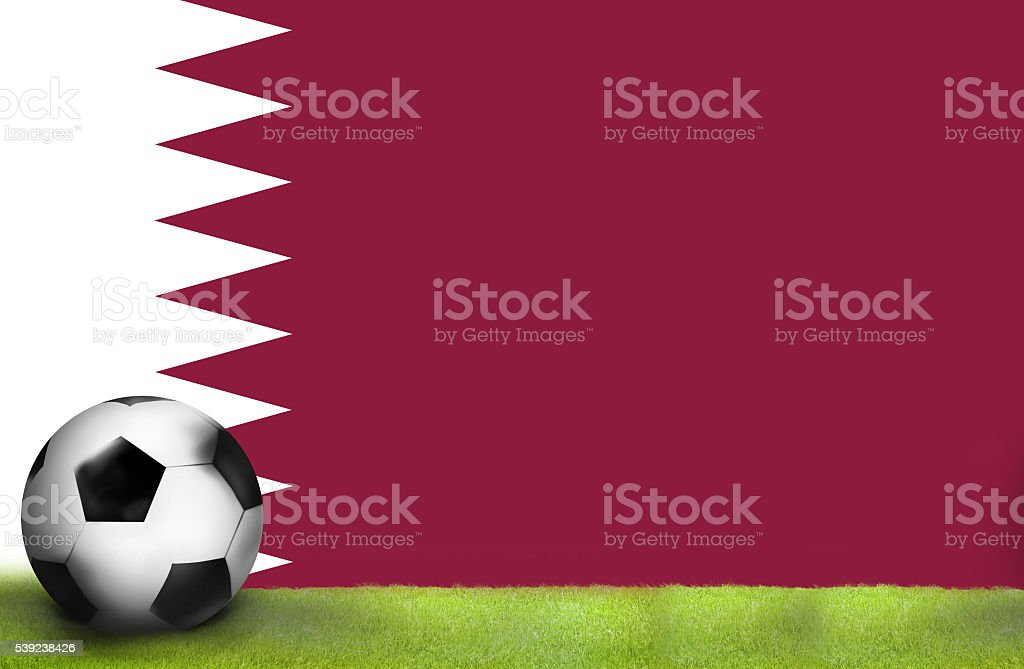 football soccer qatar flag sports 3d illustration background royalty-free stock photo