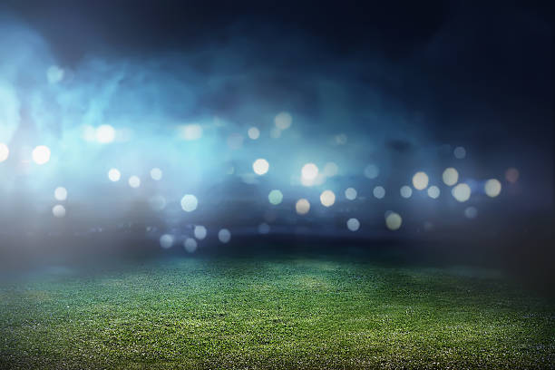 Football stadium background stock photo