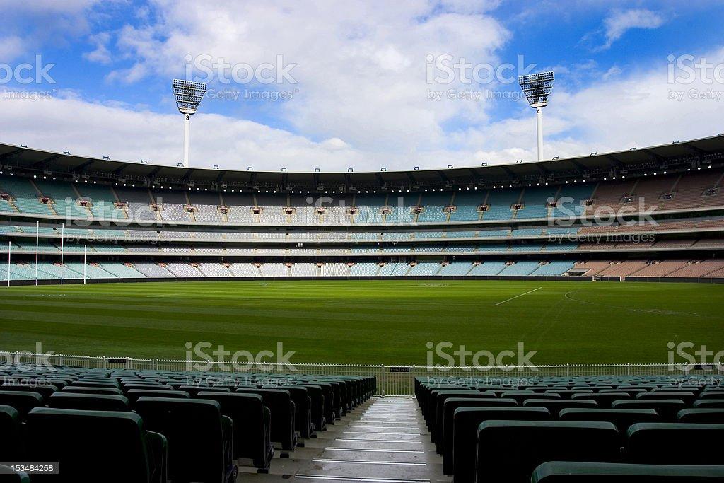 Football stadium empty stock photo
