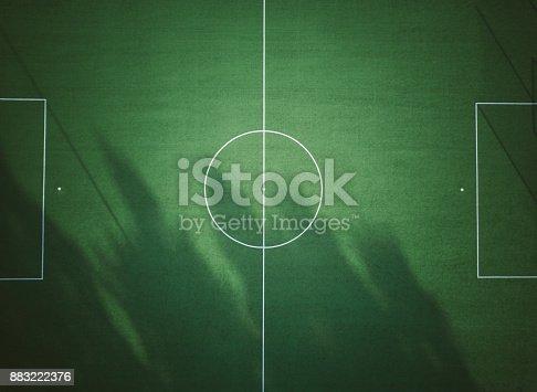 istock Football stadium from above 883222376