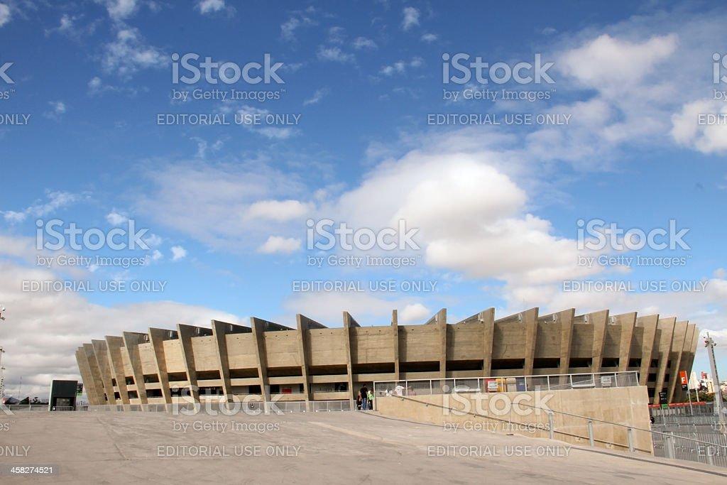 Football stadium Minerão, Brazil 2014 stock photo
