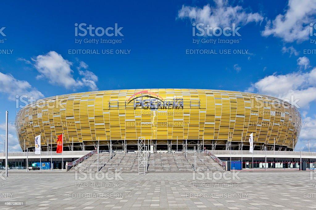 Football stadium of Gdansk, Euro 2012 stock photo