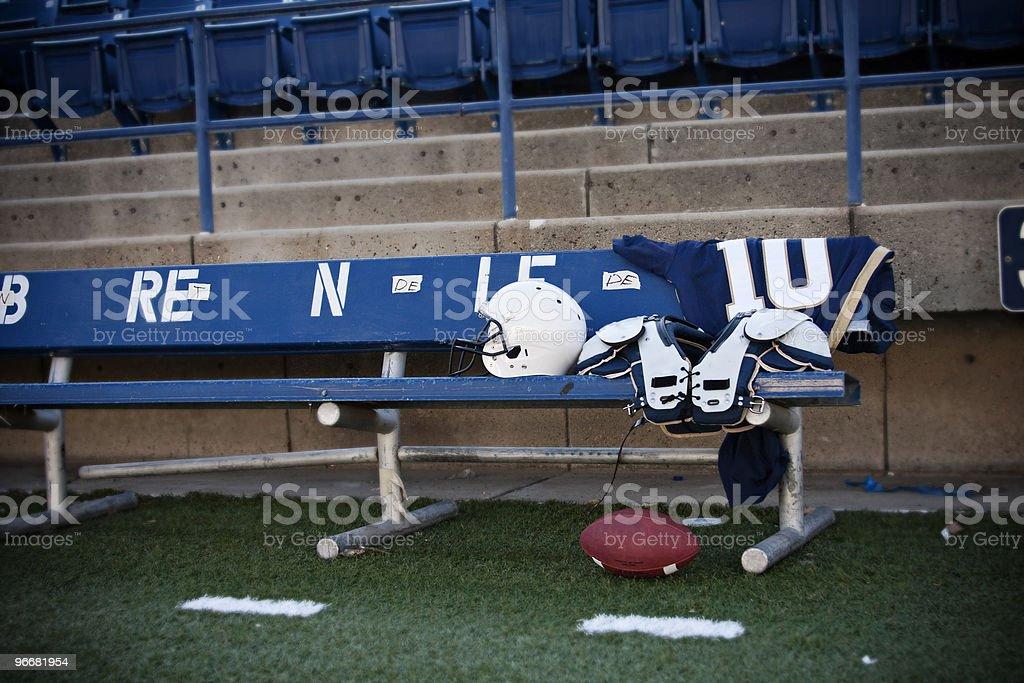 Football Stadium Sidelines stock photo