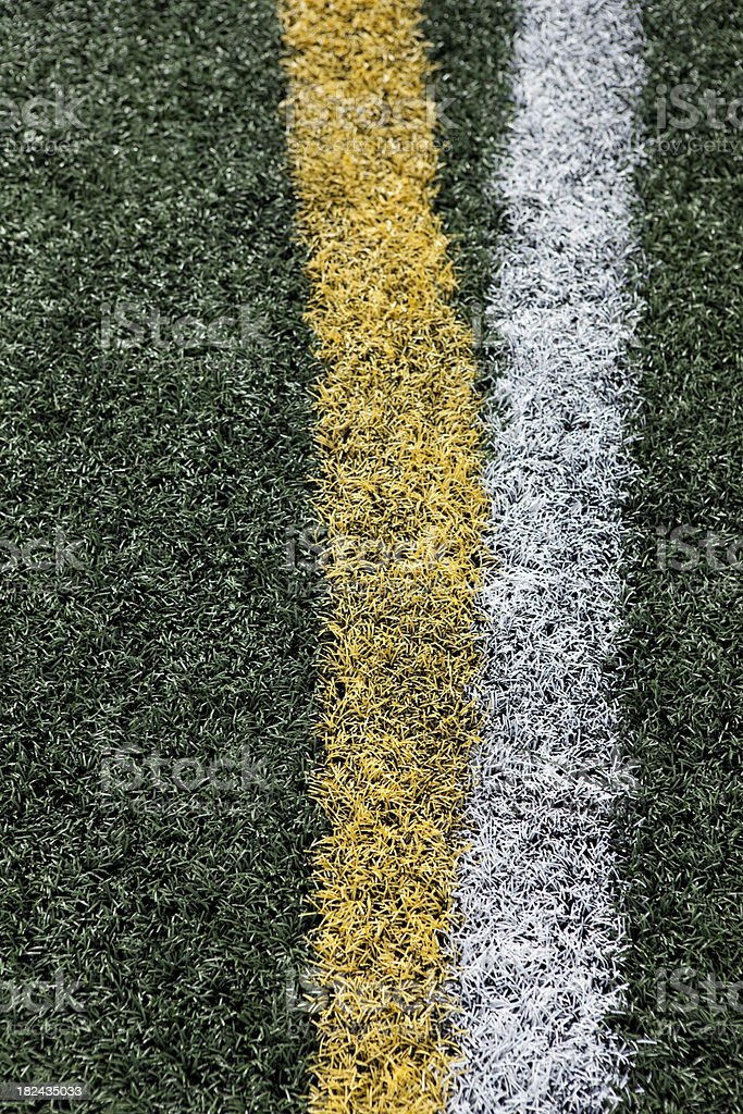 Football stadium sports venue artificial grass and markings royalty-free stock photo