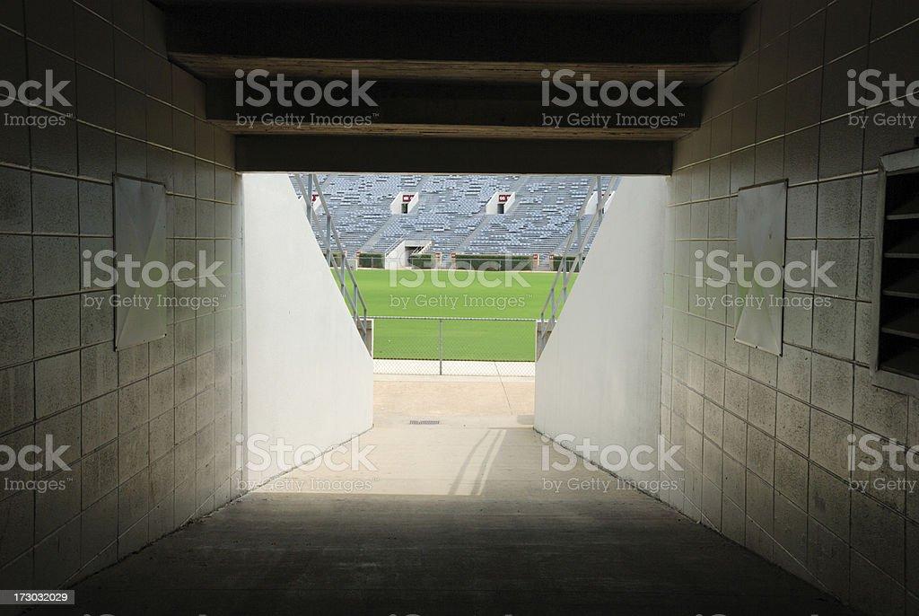Football Stadium Tunnel - Long Version royalty-free stock photo