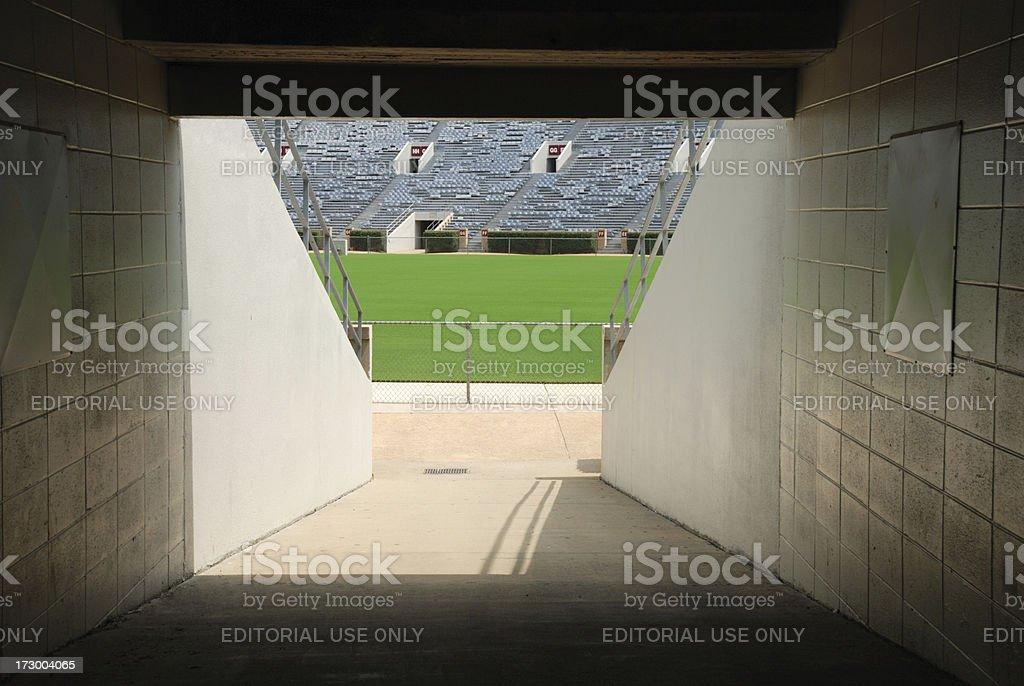 Football Stadium Tunnel stock photo