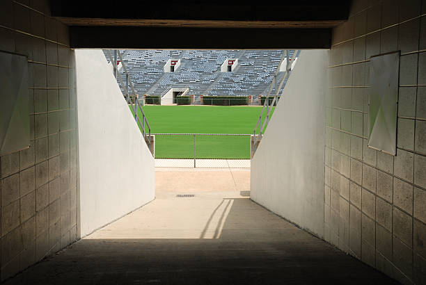 Football Stadium Tunnel stock photo