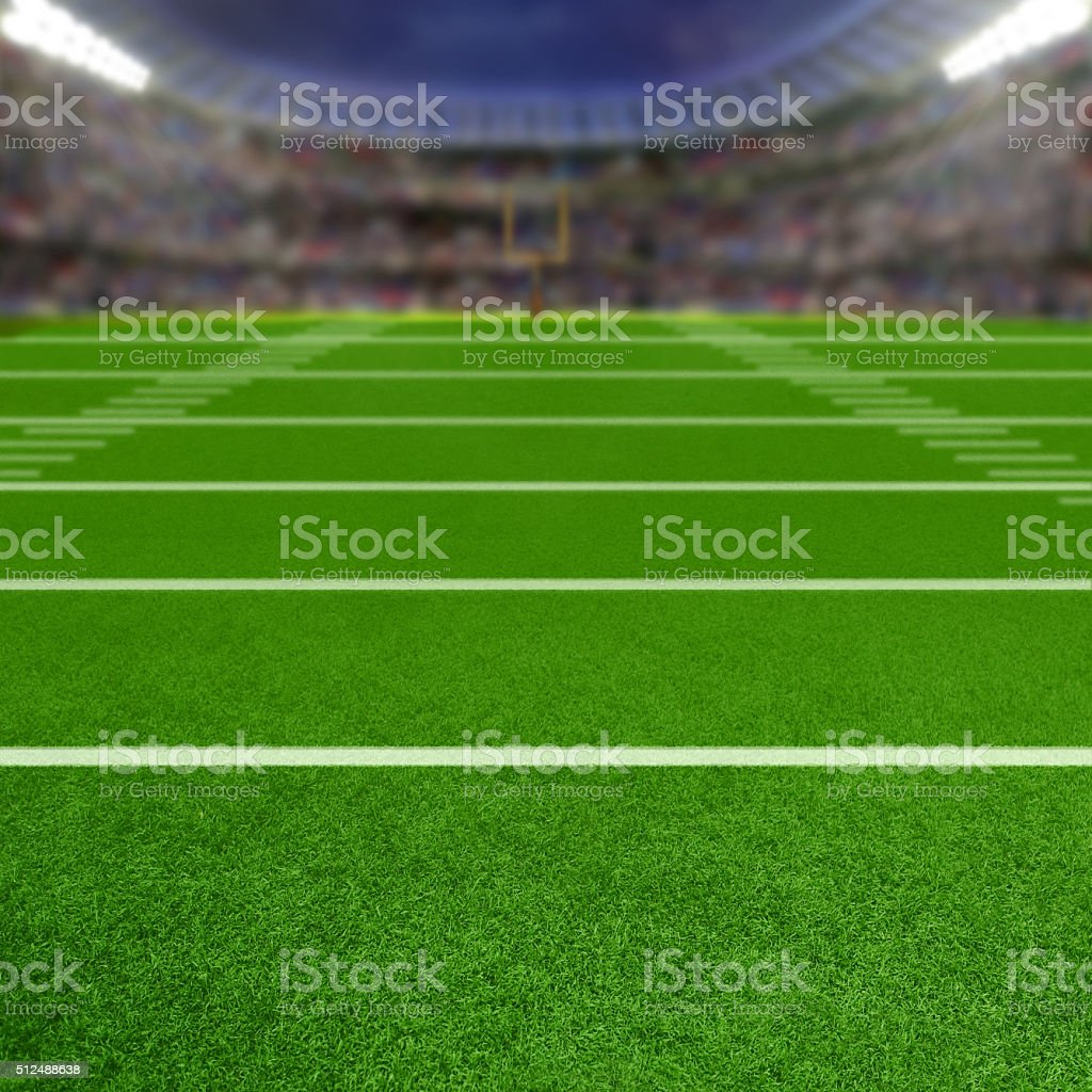 Football Stadium With Copy Space stock photo